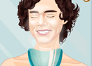 Famous Singer Harry Styles Facial