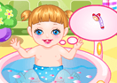 Baby Alice Bathing